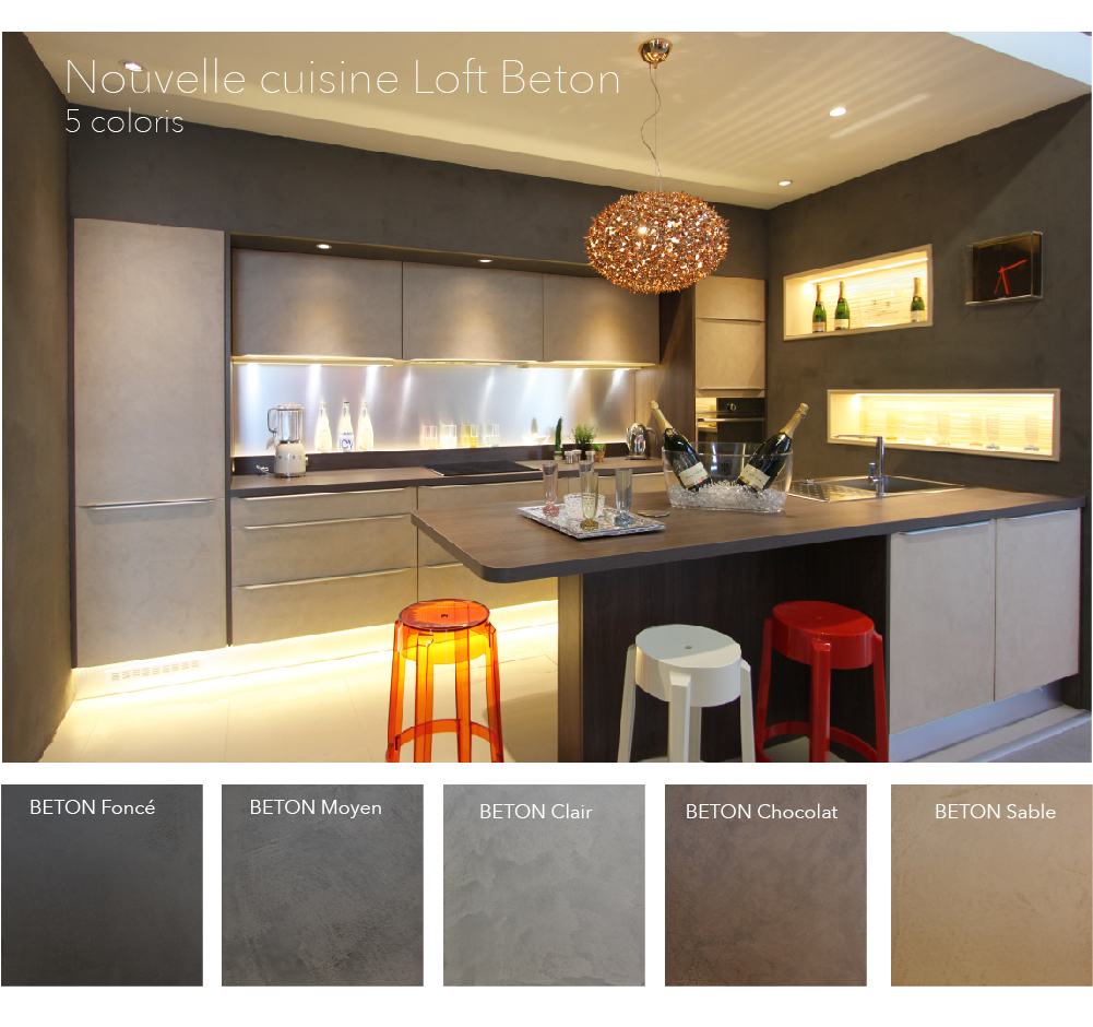 Fabulous fabrimeuble loft beton with fabricant meuble for Fabrication meuble cuisine