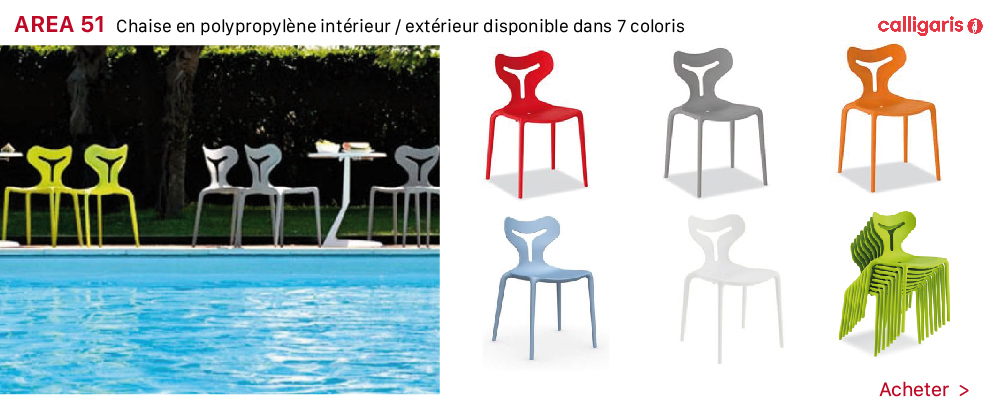 table et chaise/chaise 2018 AREA